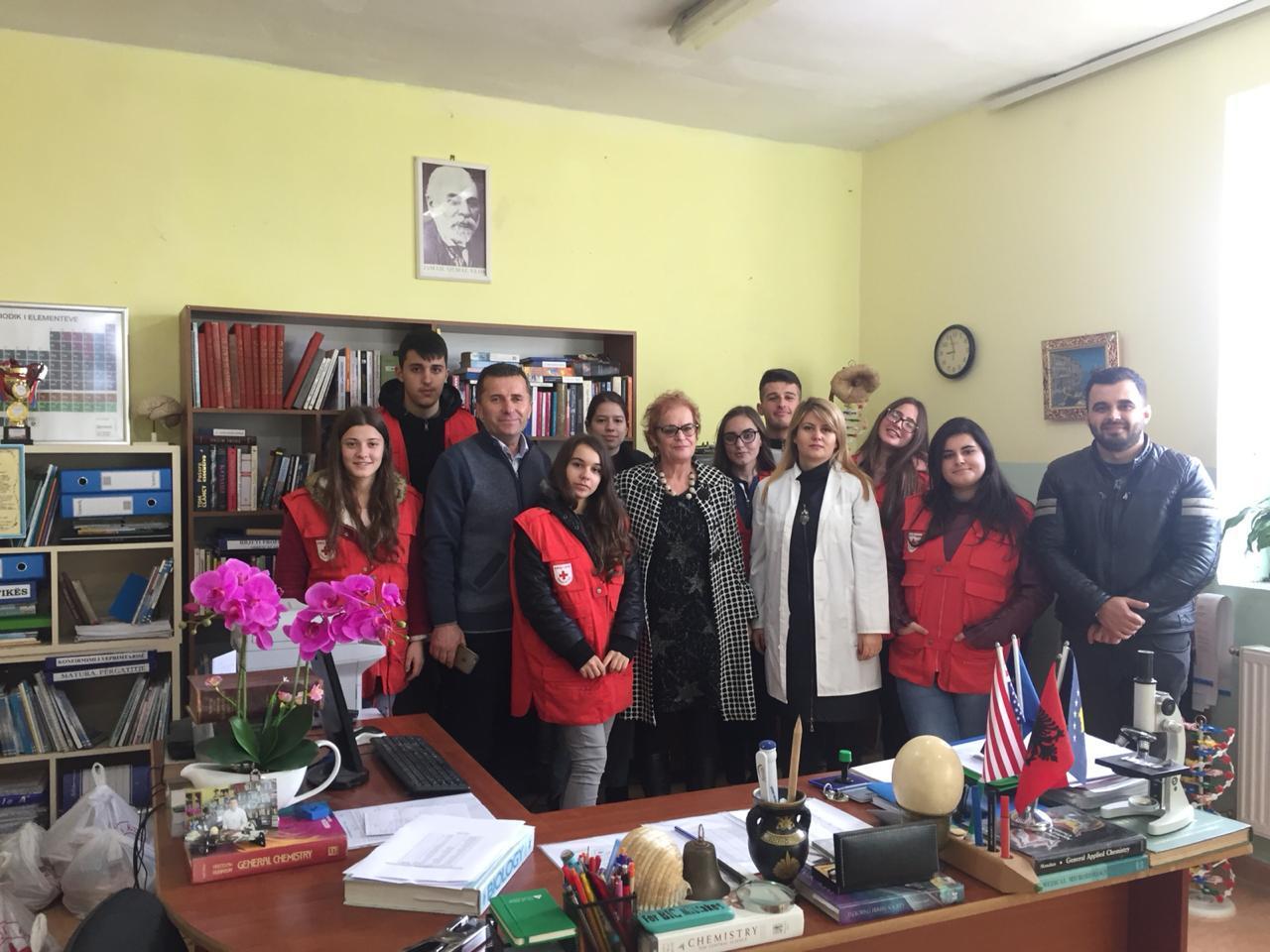 Një tjetër aktivitet bashkëpunimi midis nxënësve të shkollës Ibrahim Kodra dhe Kryqit të Kuq, Durrës